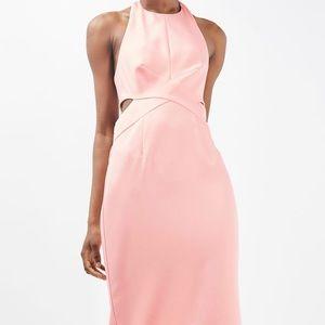 Contrast Tie Back Midi Dress Top Shop